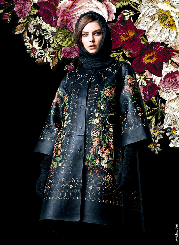 dolce-and-gabbana-fall-winter-2014-2015-collection-floral-printed-leather-coat