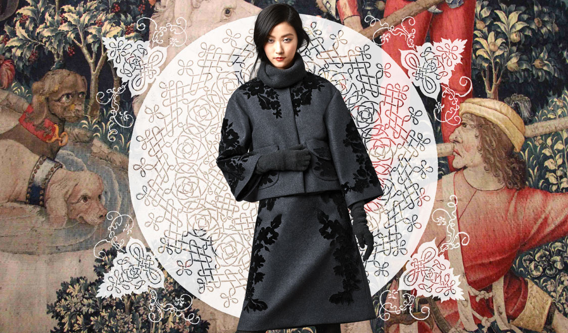 look-of-the-day-dolce-and-gabbana-fall-winter-2014-2015-womenswear-collection-embroidered-suit-cover