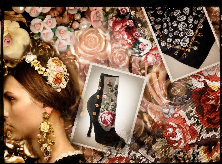 Dolce&Gabbana FW13, коллекция барокко, обувь