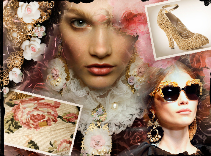 Dolce&Gabbana FW13, коллекция барокко, очки