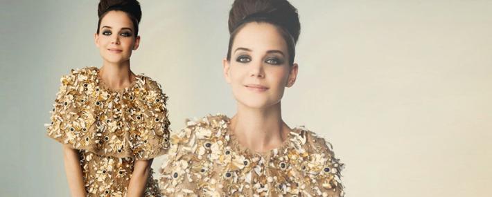 Кэти Холмс в Dolce&Gabbana в Harper's Bazaar Россия