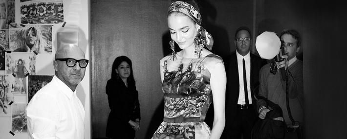 Бэкстейдж шоу Dolce&Gabbana SS13, Models.com