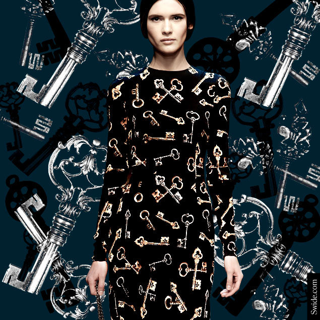dolce-and-gabbana-fall-winter-2014-2015-key-print-shift-dress-online-store