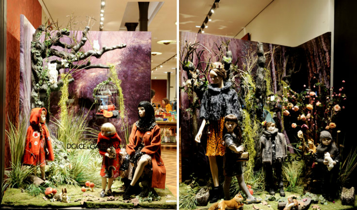 dolce-gabbana-boutique-milan-chidrens-event-the-enchanted-forest-Vetrina