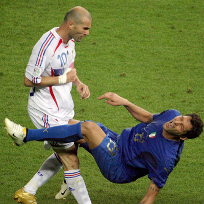 Удар головой Зинедина Зидана на Чемпионате Мира