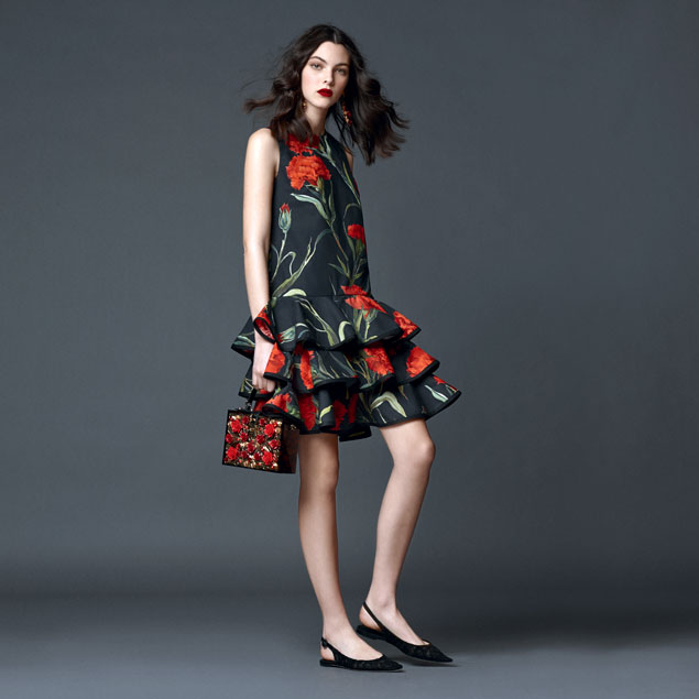 dolce-and-gabbana-spring-summer-2015-preview-shop-online-the-looks-carnations-print-ruffled-dress