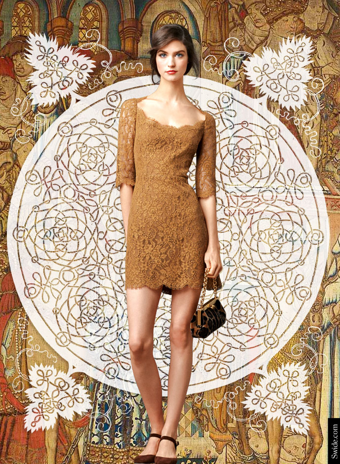 look-of-the-day-dolce-and-gabbana-fall-winter-2014-2015-womenswear-collection-lace-nude-colour-mini-dress