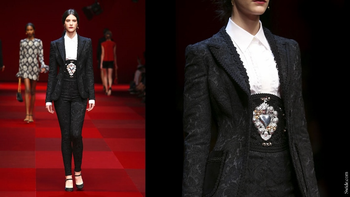 Dolce-and-Gabbana-matador-outfits-Spring-Summer-2015-black-brocade-suit (710x401)