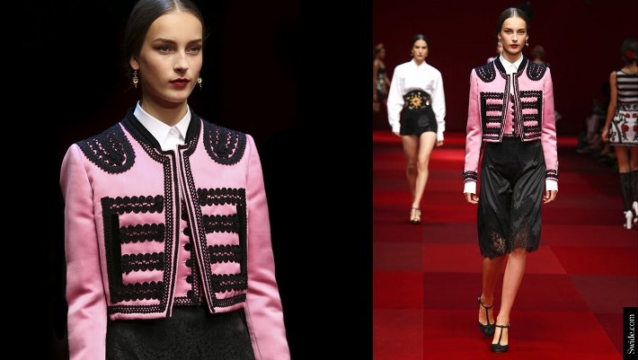 Dolce-and-Gabbana-matador-outfits-Spring-Summer-2015-pink-duchesse-bolero (710x401)