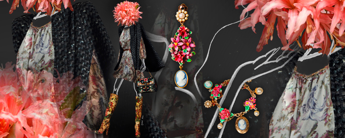 Dolce&Gabbana FW13, платье с гобеленовым принтом