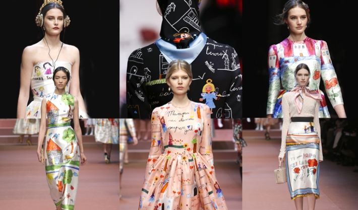 dolce-and-gabbana-fall-winter-2015-2016-women-fashion-show-review-and-inspiration-children-drawings