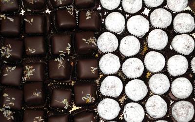 Eurochocolate 2012, белый и черный шоколад