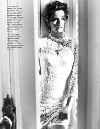 Пенелопа Крус в Dolce&Gabbana для Vogue Spain  в октябре