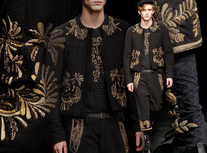 Мужская коллекция Dolce&Gabbana FW13, болеро