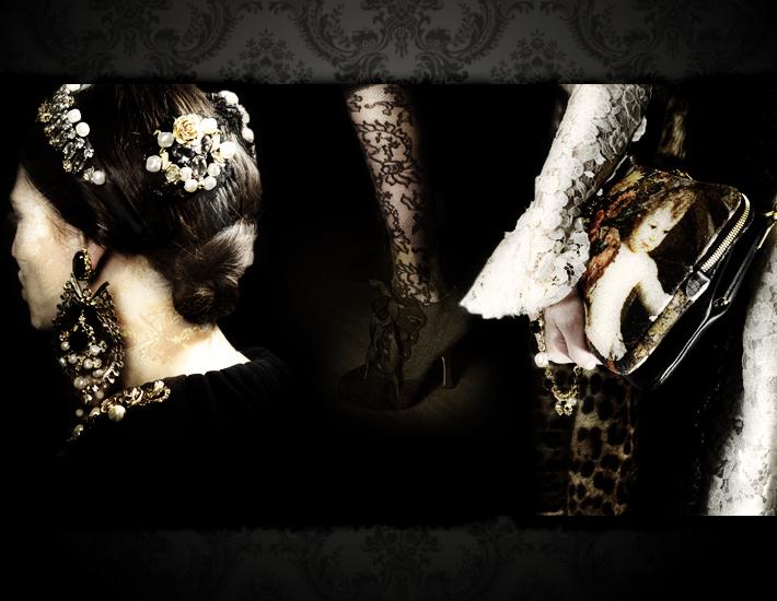 Dolce&Gabbana FW13, аксессуары для волос