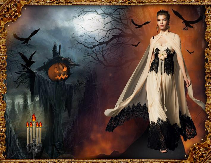 Dolce&Gabbana FW13: образы для Хэллоуина, привидение