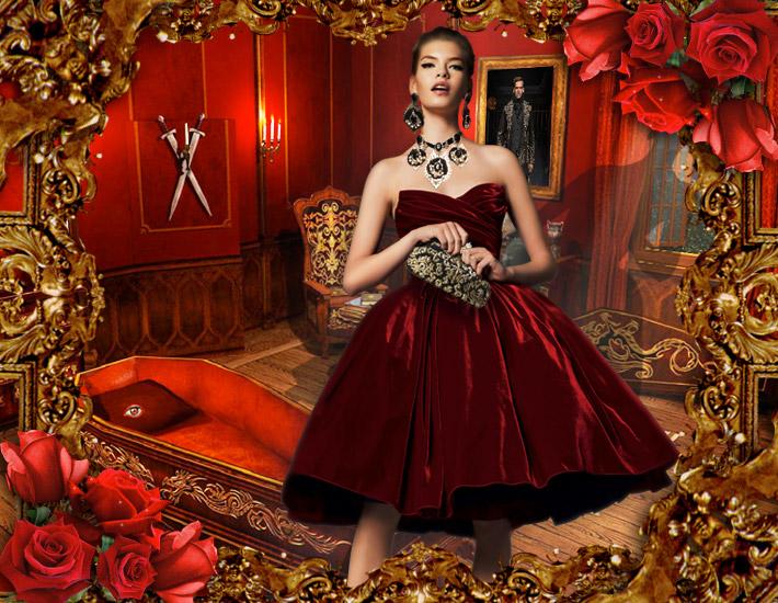 Dolce&Gabbana FW13: образы для Хэллоуина, дьявол