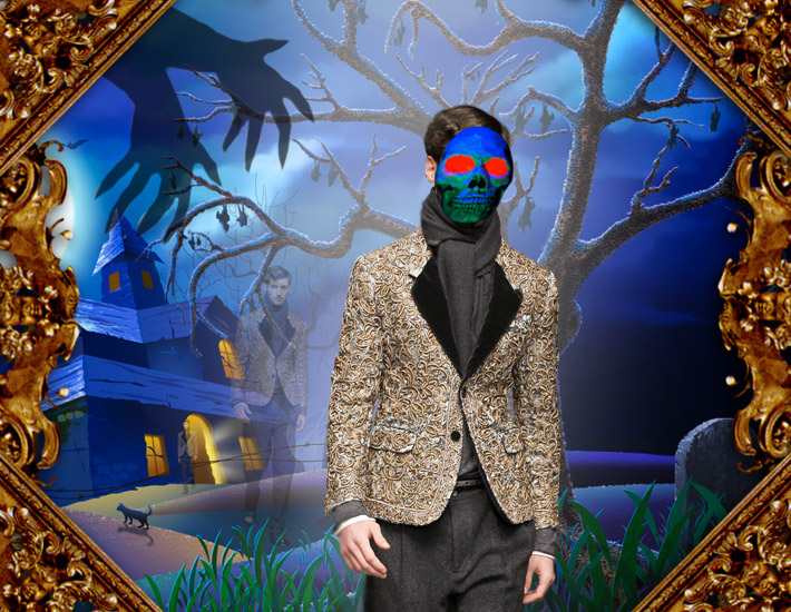Dolce&Gabbana FW13: образы для Хэллоуина, Дракула