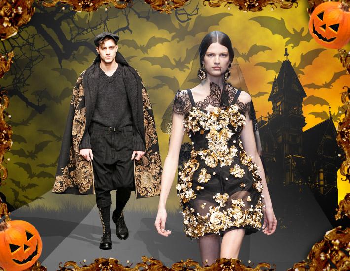 Dolce&Gabbana FW13: образы для Хэллоуина, вампиры
