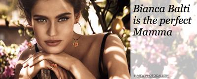 Бьянка Балти - лицо рекламной кампании Dolce&Gabbana Jewellery Mamma Collection