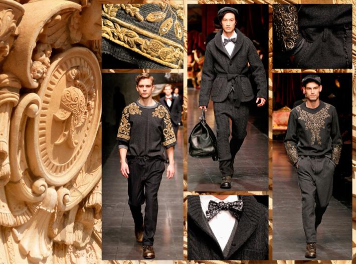 Мужская коллекция Dolce&Gabbana FW13