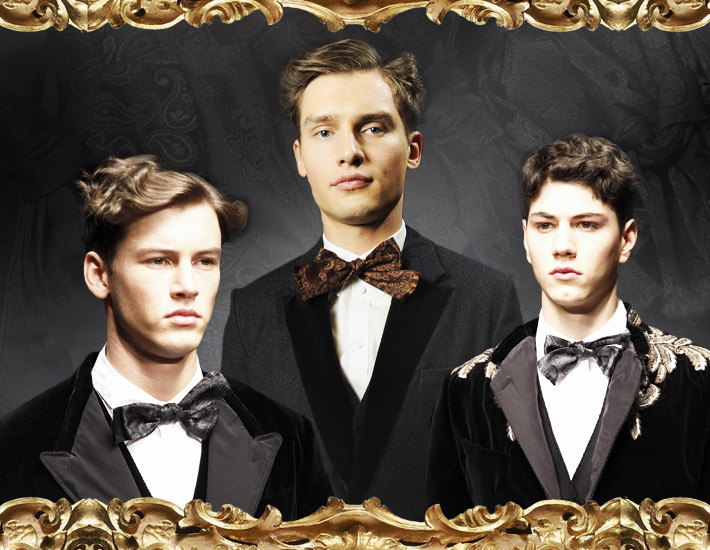 Мужская коллекция Dolce&Gabbana FW13, галстук-бабочка