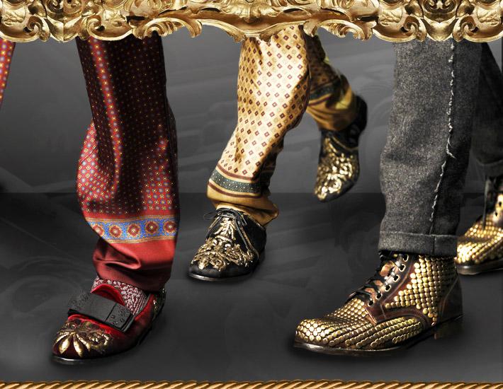 Мужская коллекция Dolce&Gabbana FW13, обувь