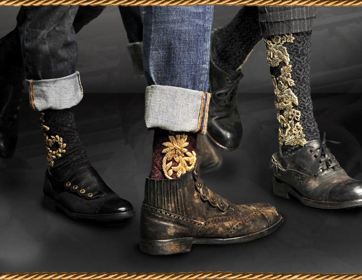 Мужская коллекция Dolce&Gabbana FW13, носки