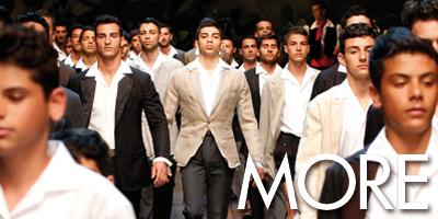 Модный показ мужской коллекции Dolce&Gabbana SS13