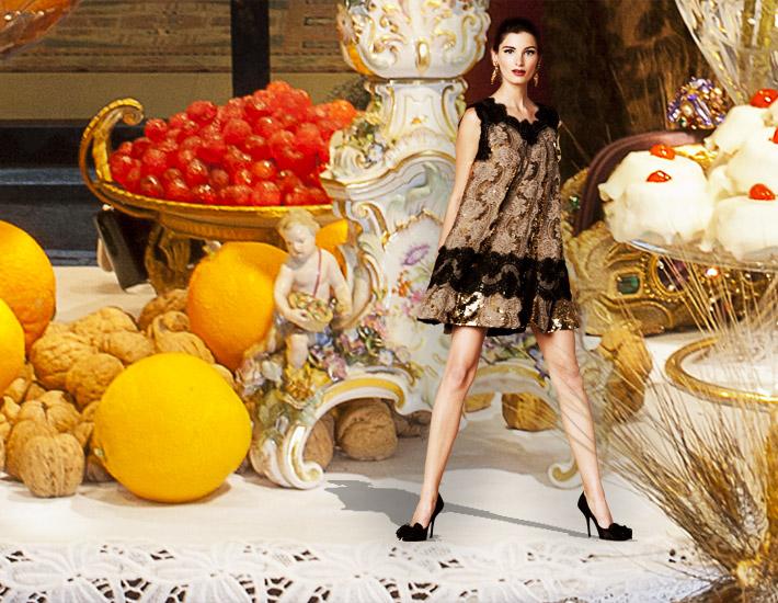 Dolce&Gabbana SS13, католическое Рождество, кружевное платье