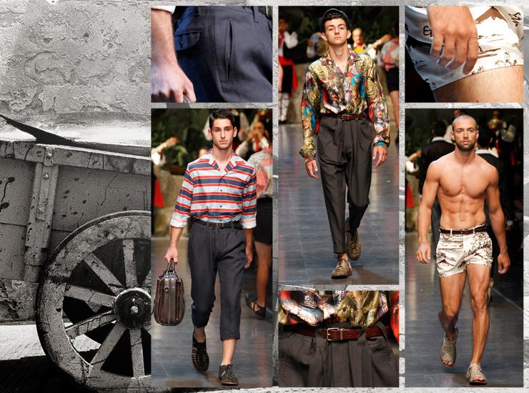 Показ мужской коллекции Dolce&Gabbana SS13 - Брюки