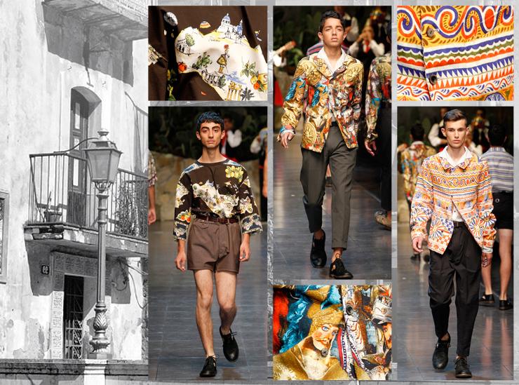 Показ мужской коллекции Dolce&Gabbana SS13 - Принты