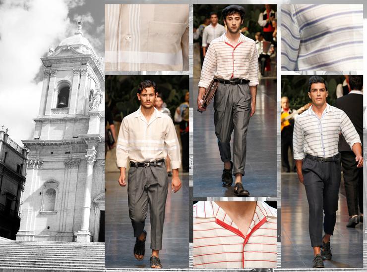 Показ мужской коллекции Dolce&Gabbana SS13 - Рубашки