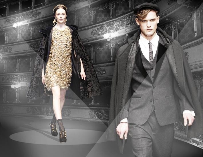 Вечерние наряды Dolce&Gabbana FW13 Baroque, кейп