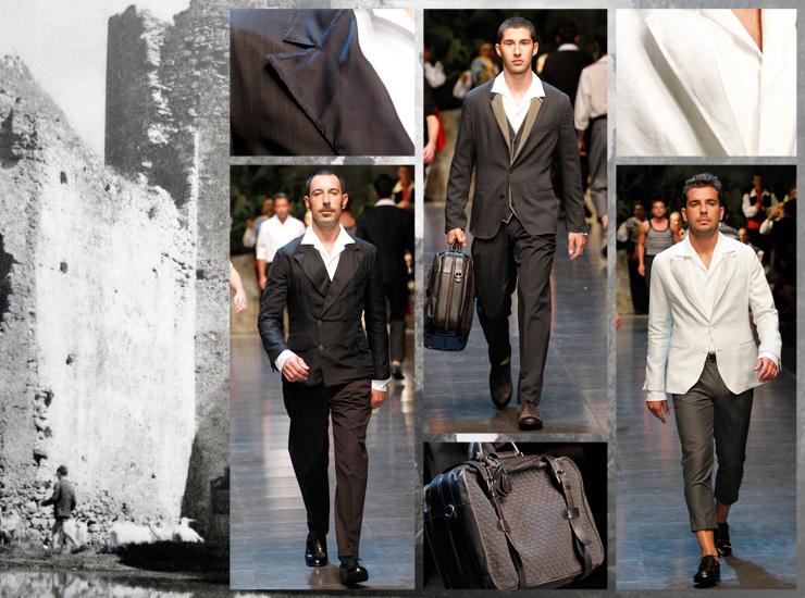 Показ мужской коллекции Dolce&Gabbana SS13 - Костюмы