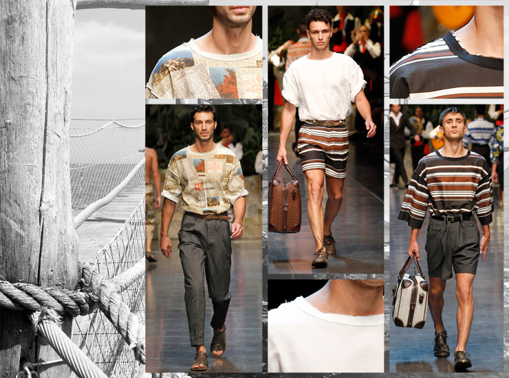 Показ мужской коллекции Dolce&Gabbana SS13 - Футболки