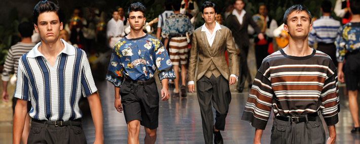 Показ мужской коллекции Dolce&Gabbana SS13