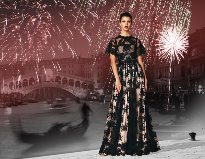 Dolce&Gabbana SS2013, кружевное платье
