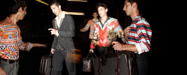 Backstage показа летней мужской коллекции Dolce&Gabbana SS13
