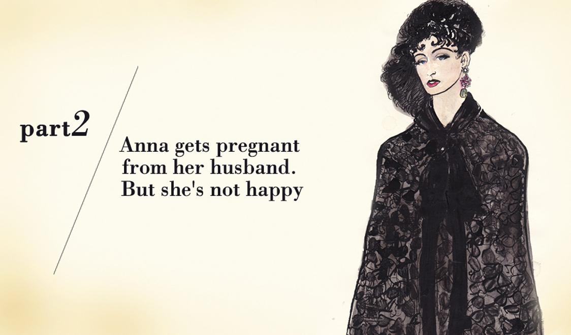 Часть вторая. Анна ждет ребенка от своего мужа. Но она несчастлива. (Кружевной кейп)