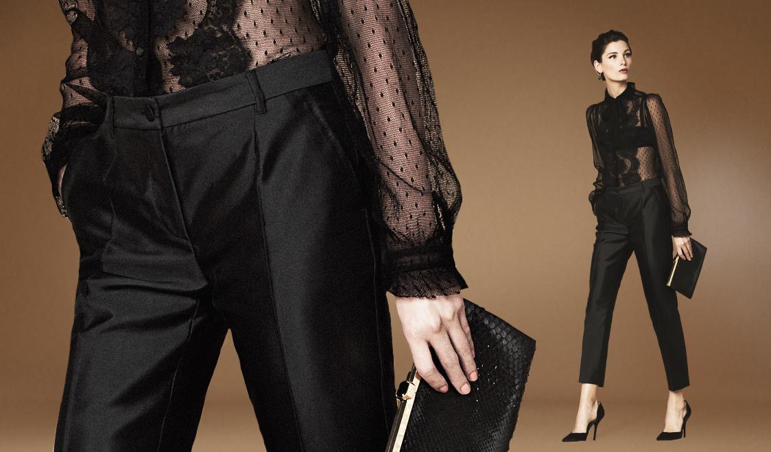 Прозрачная блузка Dolce&Gabbana SS13