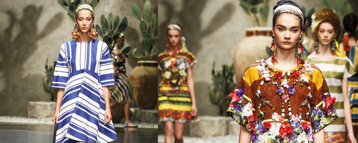Силуэт Трапеция в коллекции Dolce&Gabbana SS13