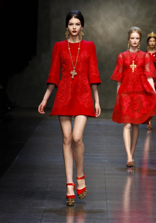 Женская коллекция Dolce&Gabbana FW14