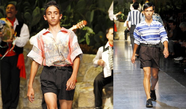 Мужская коллекция Dolce&Gabbana SS13: шорты