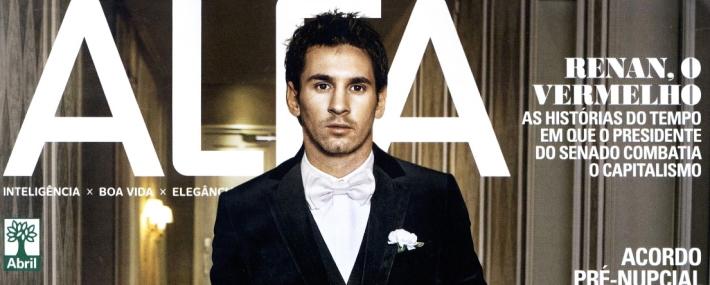 Лионель Месси в Dolce&Gabbа обложке Alfa Brazil