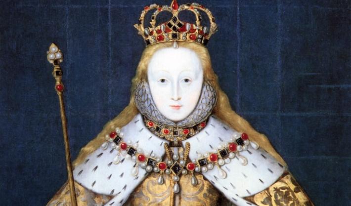 Королева Елизавета I на своей коронации