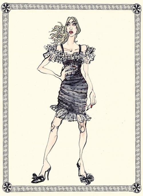 Фурия из Ореста Еврипида в Dolce&Gabbana