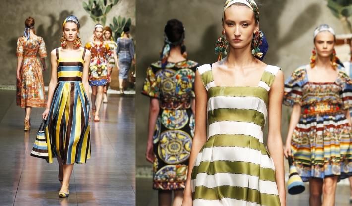 Dolce&Gabbana SS13, полосы