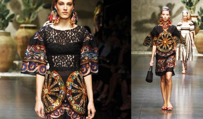 Коллекция Dolce&Gabbana SS13 в стиле сицилийского фолка