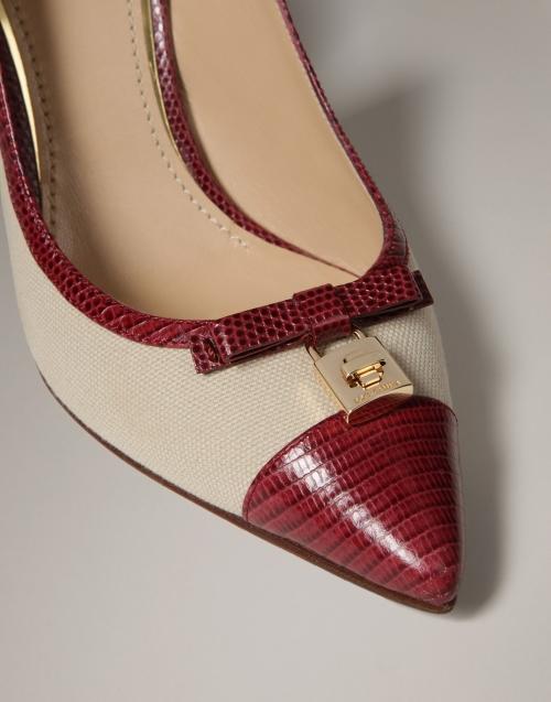 Босоножки Dolce&Gabbana Bellucci из парусины